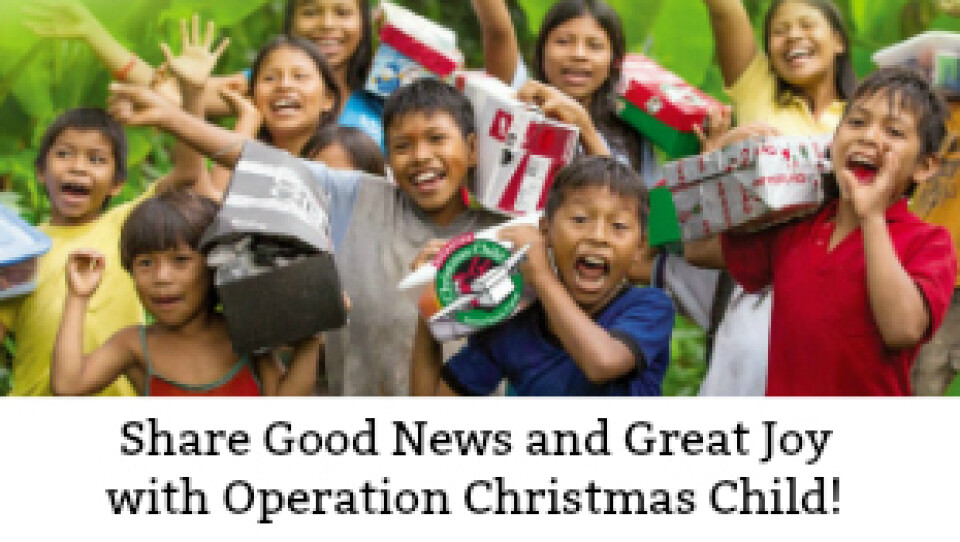 Operation Christmas Child Lunch & Shoeboxes Are Due!
